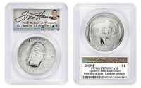 Apollo 11 Silver 1oz Coin - 1st Day Launch - Signed by Fred Haise -PCGS PR70DCAM