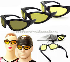 Motorcycle Transition Sun Glasses YELLOW Driving Biker Day Night Photochromic