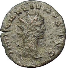GALLIENUS son of Valerian I Ancient Roman Coin Doe stag  i29003
