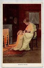 ALFRED JAMES DEWEY Evening Prayer Maternità Preghiera della sera PC Circa 1910