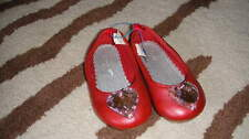 RARE BABY GAP 6 RED LARGE HEART BEAD SHOES TODDLER GIRLS