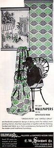 Black Poodle COLONIAL MODERN WALLPAPERS Creole Patio & Grille 1953 MAGAZINE AD