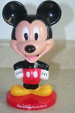 """r- TOY DOLL EXCELLENT MICKEY MOUSE BOBBLE HEAD PLASTIC 8"""" WORLD RESORT COLLECT"""