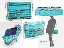 Rebecca Minkoff Mac Perforated Convertible Clutch Turquoise NWT