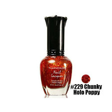 1 Kleancolor Nail Polish Lacquer #229 Chunky Holo Poppy Manicure