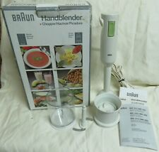 Braun Hand Blender Chopper Appliance Kitchen Gadget Cooking Tool MR360 With Box