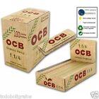 Papel de fumar OCB ORGANICO. cañamo. tamaño normal 1 1/4. 100 LIBRITOS . 78mms