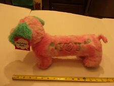 """Dachshund Plush Toy """" I Love You"""" Midwood Brands New With Tags"""