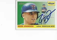 REED JOHNSON Autographed Signed 2004 Topps Heritage card Toronto Blue Jays COA