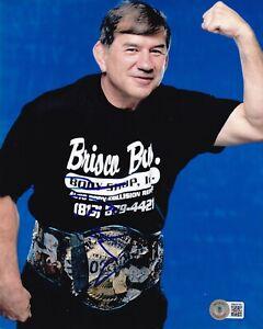 BECKETT GERALD BRISCO SIGNED 8x10 PHOTO 40100 WWF-WWE-AEW-TNA-ECW-IMPACT-WCW-ROH