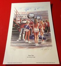"BIG 13x19 LAMINATED UNIVERSITY OF GEORGIA BULLDOGS ""REDCOAT MARCHING BAND"" PRINT"