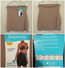 NWT SHAPERCISE XL 12-14 Cafe Brown Cool Smoothing Light Control Half Slip~$12.98