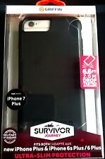 Griffin Survivor Journey Ultra Slim Case for iPhone 6 Plus Black Deep Grey