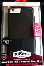 Griffin Survivor Journey Case for iPhone 6 Plus 6S Plus 7 Plus Black / Deep Grey