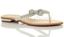 Calzado de mujer chanclas/flip flops planos, talla 37