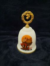 Vintage Norman Rockwell Gorham Fine China Bell ~ Planning Christmas Visits 1982