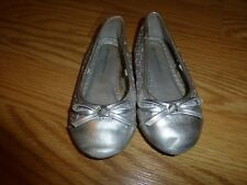 Little Girls Size 7 Healhtex Silver Shoes