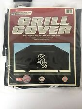 "New Chicago White Sox Heavy Duty Black Vinyl Bbq Grill Cover 68""X21""X35"" ; By Rico"