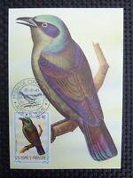 S.TOME MK VOGEL VÖGEL BIRD BIRDS MAXIMUMKARTE CARTE MAXIMUM CARD MC CM c7177