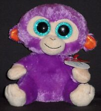 """TY BEANIE BOOS BOO'S - GRAPE the 6"""" MONKEY - MINT with NEAR PERFECT TAG"""