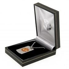 Manchester United Fc Man Utd Colour Crest Dog Tag & Chain in Gift Box Football