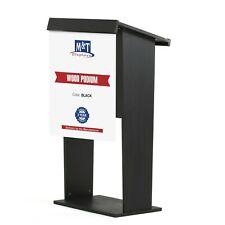 M&T Displays Stand up Lectern, Floor-Standing Podium, Poster Fast, Shelf