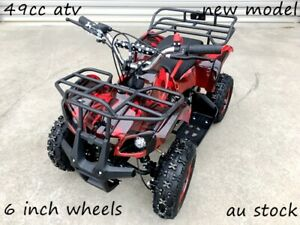 49CC MINI FARM QUAD BIKE ATV BUGGY KIDS 4 WHEELER POCKET PIT DIRT BIKE RED