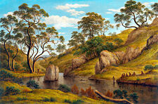 The Bath of Diana Van Diemens Land by John Glover A1 Quality Art Print