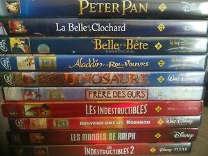 * Lot 10 Dvd Disney Numerotés (la belle et la bete peter pan les indestructibles