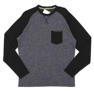 Smartwool Black/Grey Merino 250 Pocket Crew Men's Size XL 81947