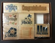 Family Heritage Stamp Set of 7 Sentiments Mounted Rubber Stamps NEW Portafolia