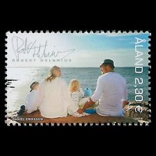 "Aland 2014 - My Aland ""Robert Helenius with Family"" People Art  Photo - MNH"