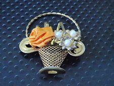 VINTAGE Spilla da Balia Fiore Cesto Spilla Sciarpa Scialle