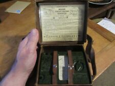 OHMMETER MEGGER CIRCUIT TESTING GREEN BAKELITE WITH LEATHER CASE