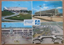 POST CARD Air Port LINER Plane Ways Flight Terminal France Paris Craft Gate Fly