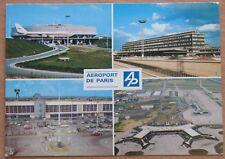 POST CARD Air Port LINER Plane Ways Flight Terminal France Paris Craft Gate Fly