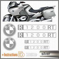 6x BMW R1200RT Silver 2007 MOTO ADESIVI PEGATINA R 1200 RT AUTOCOLLANT AUFKLEBER