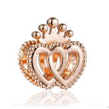 Rose Gold 1pcs European Crown charm bead For 925 silver bracelet chain