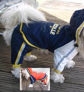 Hunderegenanzug Hunde Regenschutz Windanzug Schneeanzug blau klkxde