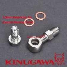 Kinugawa Banjo Bolt Kit M10x1.25 4AN w/ 1.5mm Restrictor Greddy TD04H TD05