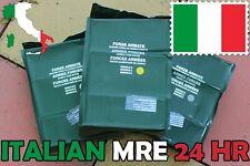 *RARE* 24HR ITALIAN MRE RCIR  PACK COMBAT MILITARY MEAL US BOX ITALY USA