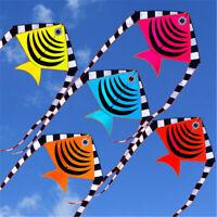 1.2m 48'' Flying Fish Kite Tail Outdoor Sport Game Children Kids Fun Toy  G AH