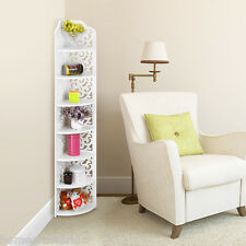 7 Shelves Corner Shelf Stand Display Rack Storage Organizer Furniture Home Decor