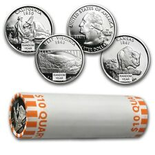 90% Silver Statehood/ATB Quarters 40-Coin Roll Proof - SKU #46944