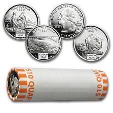Proof Silver Statehood Quarters - $10 40 Coin Roll - Random Years - SKU #46944