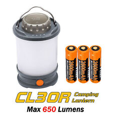 Fenix CL30R Camping Lantern Lamp USB Rechargeable LED Light +Battery - Iron Grey