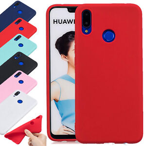 For Huawei P Smart 2019 Ultra Slim Smart Case Soft Silicone TPU Matte Cover UK
