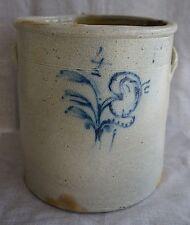 Blue Decorated Stoneware MIDWESTERN 4 GALLON CROCK