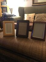Picture Frames Lot Of 3  Frame 2 5x7 And 1 4x6