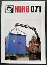 Hiab 071 Hydraulic Crane Dealer Sales Specs Brochure